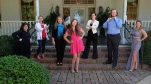 The Dream Team listed from left to right: Claudia Salcedo, Katie McLaughlin, Melanie Culhane, Rachel Dennis, Heather Higginbotham, Cody Arthur, Lacey Hindman. Photo by Robert Jordan/Ole Miss Communications