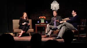 The most recent taping of Living Music Resource's Beat, hosted by Nancy Maria Balach, included Director of Opera University of Alabama Paul Houghtaling (center) and Delta State Voice Professor Chad Payton. Photo by Robert Jordan/Ole Miss Communications