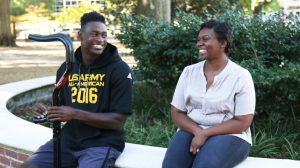 D.K. Metcalf and his mother, Tonya, are both enrolled as students at Ole Miss.