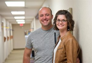 Lindsey Edmondson gets lots of support from husband Brad as she transitions to life with a cochlear implant, allowing her to hear well for the first time in her life.
