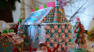 The annual Gingerbread Village at the University of Mississippi's Gertrude C. Ford Center for the Performing Arts is on display through Dec. 16. Photo by Kevin Bain/Ole Miss Communications