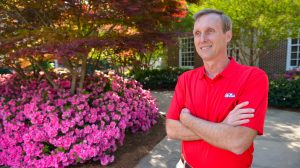 Jeff McManus, University of Mississippi director of landscape, airport and golf operations, has been honored with the Professional Grounds Management Society's President's Award.Photo by Robert Jordan/Ole Miss Communications
