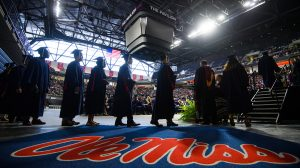 Commencement in the Pavilion at Ole Miss. Photo by Robert Jordan/Ole Miss Communications
