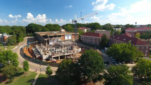 The Ole Miss Student Union renovation and expansion project is fully underway with closings and temporary relocations scheduled in the coming weeks. Photo by Robert Jordan/Ole Miss Communications