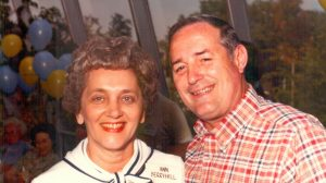 A new scholarship endowment, named in memory of Ann Berryhill (at left, with husband Farrell), will provide financial assistance at UM for full-time entering freshmen from Pontotoc County.