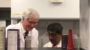 NCNPR Director Larry Walker (left) and Associate Director Ikhlas Khan inspect dietary supplements as part of a partnership with the U.S Food and Drug Administration. Photo by Sydney Slotkin DuPriest