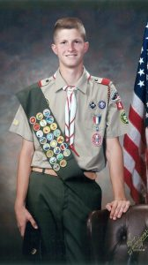 Mitchell Crawford earned his Eagle Scout rank at age 16.