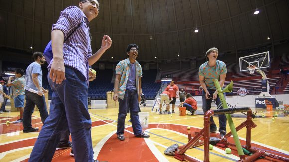UM Catapult Competition Draws Top Guns