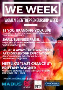 Women and Entrepreneurship Week Kicks off Monday