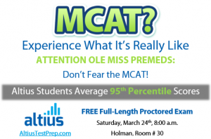 Free MCAT Exam Prep Offered Saturday at UM - Ole Miss News