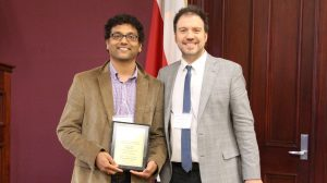 Pharmacy Postdoctoral Fellow Honored for Poster Presentation