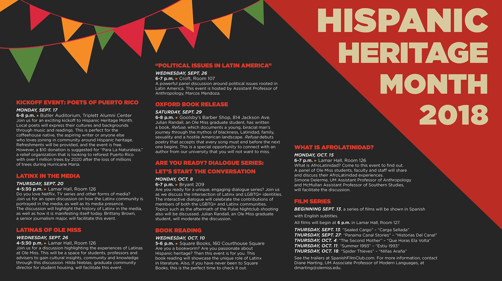 Gains In Reading For Hispanic Students >> Um Sets Annual Hispanic Heritage Month Observances Ole Miss News