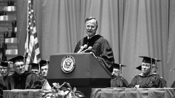 Former UM Officials, Staff Recall George H.W. Bush's Visit, Legacy