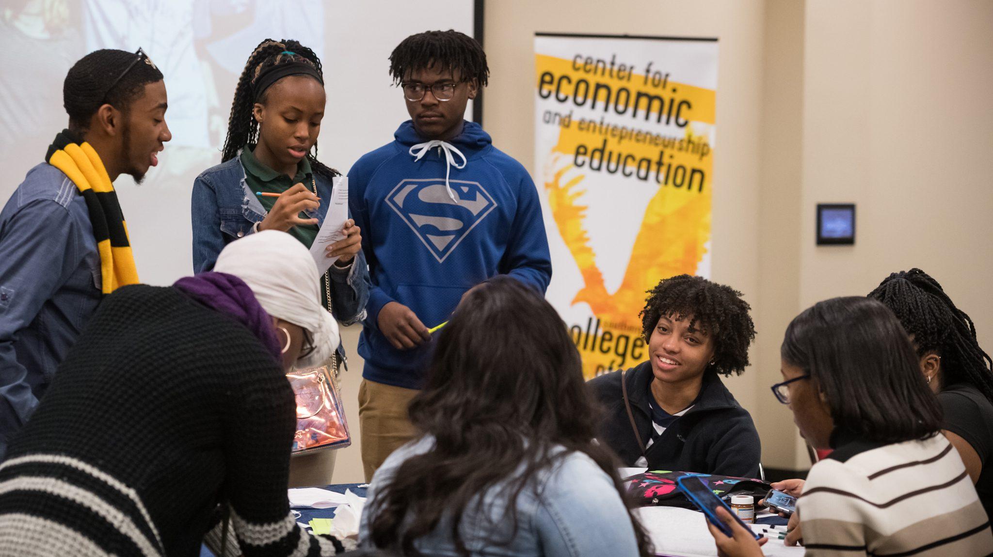 High School Students Learn Entrepreneurship Skills at