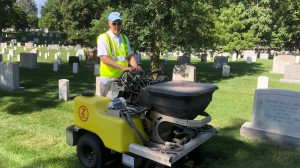 Landscape Services Director Volunteers at Arlington National Cemetery