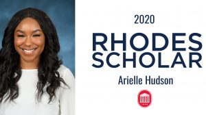 Arielle Hudson Named UM's 27th Rhodes Scholar