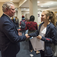 Students, Administrators Make Connections at Lyceum Event