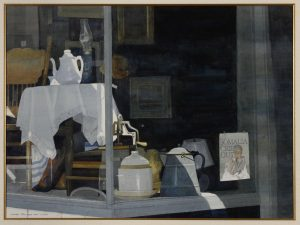 """""""Signs of the Times,"""" a prized watercolor by renowned artist Dean Mitchell, is the signature artwork featured this month in the University of Mississippi Museum's pop-up space and will be on display through mid-March. Courtesy photo"""