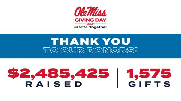 Generous Donations Smash Record During Ole Miss Giving Day 2021